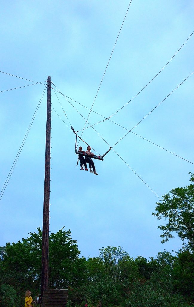 the big swing at Adrenalin Quarry in Cornwall