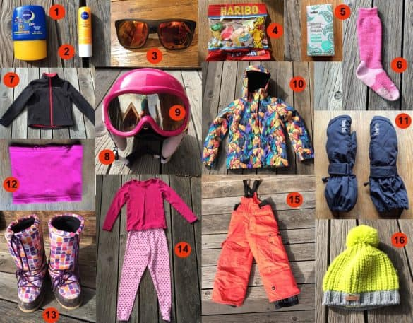 essentials for skiing for family snow holiday