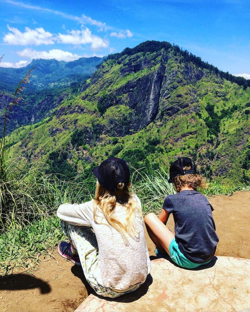 places to visit in Ella Sri Lanka with kids climb little Adams peak