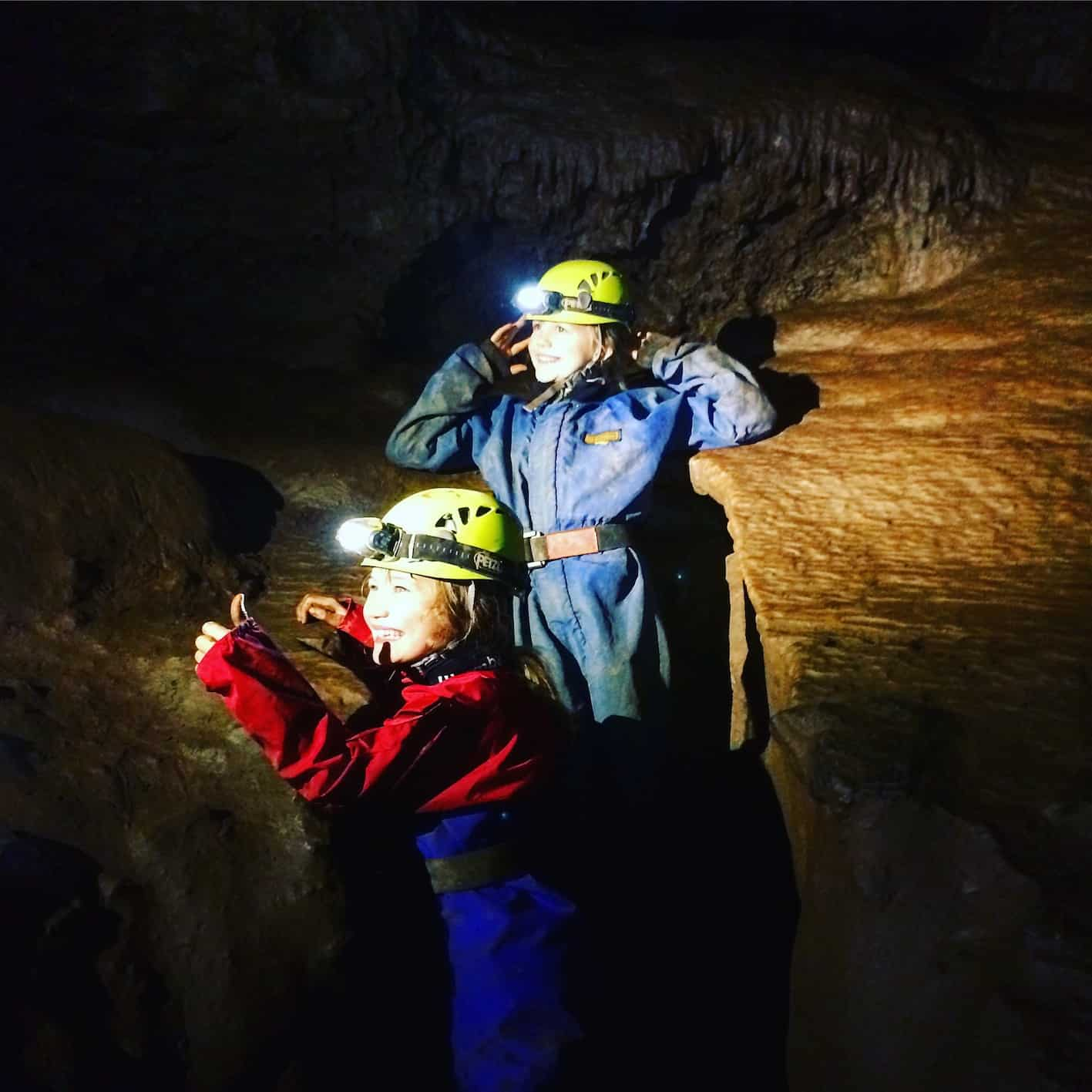 caving in devon - bishops cavern