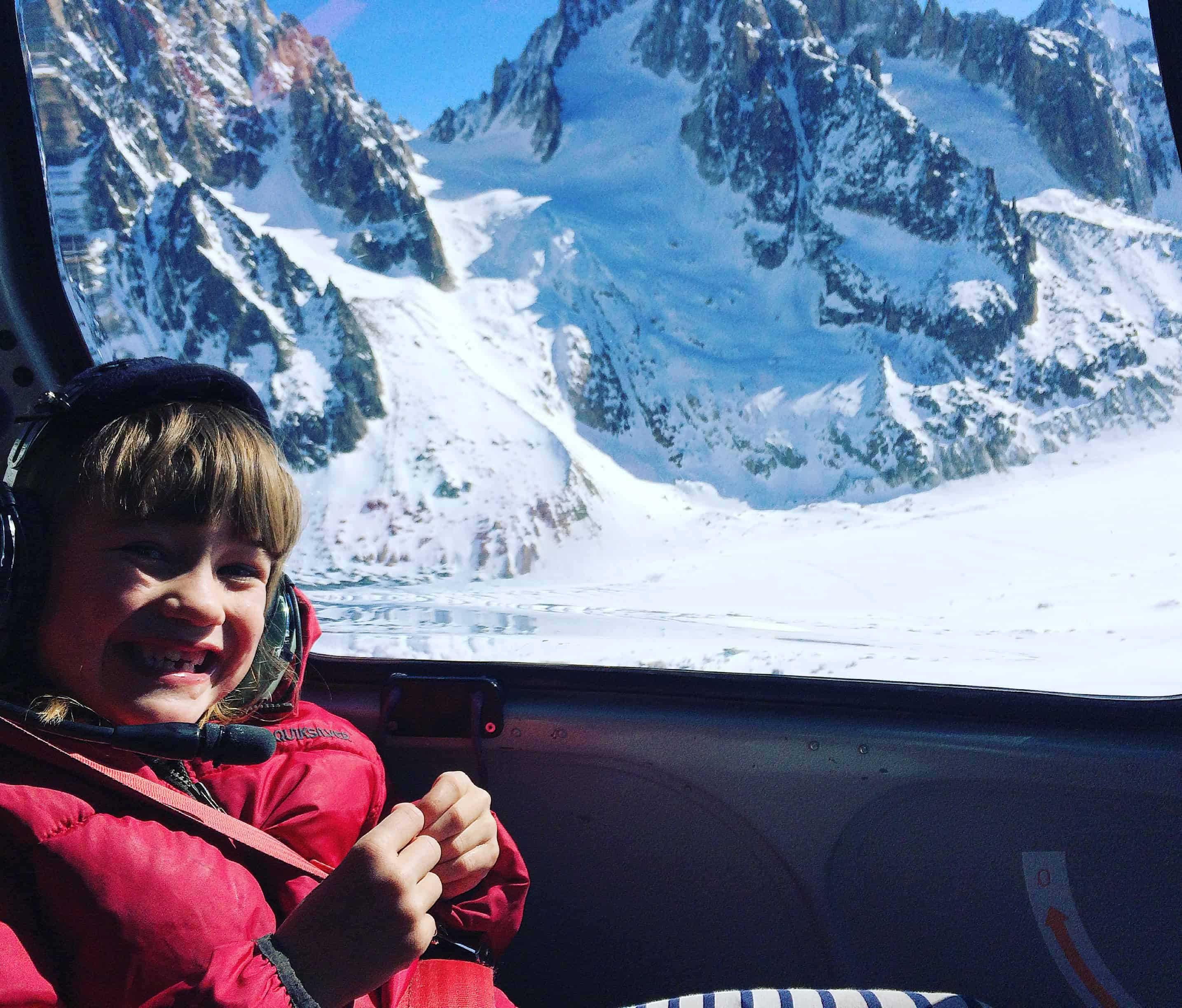 chamonix helicopter tour, chamonix for families