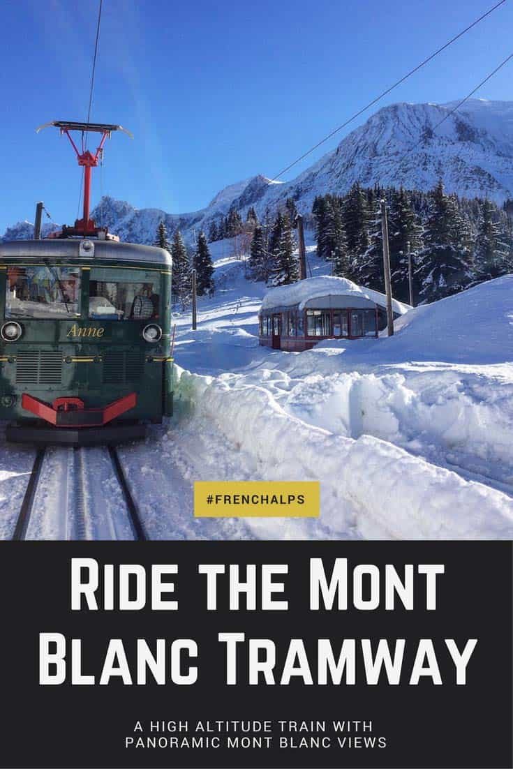 Ride the Mont Blanc Tramway Chamonix for non skiers