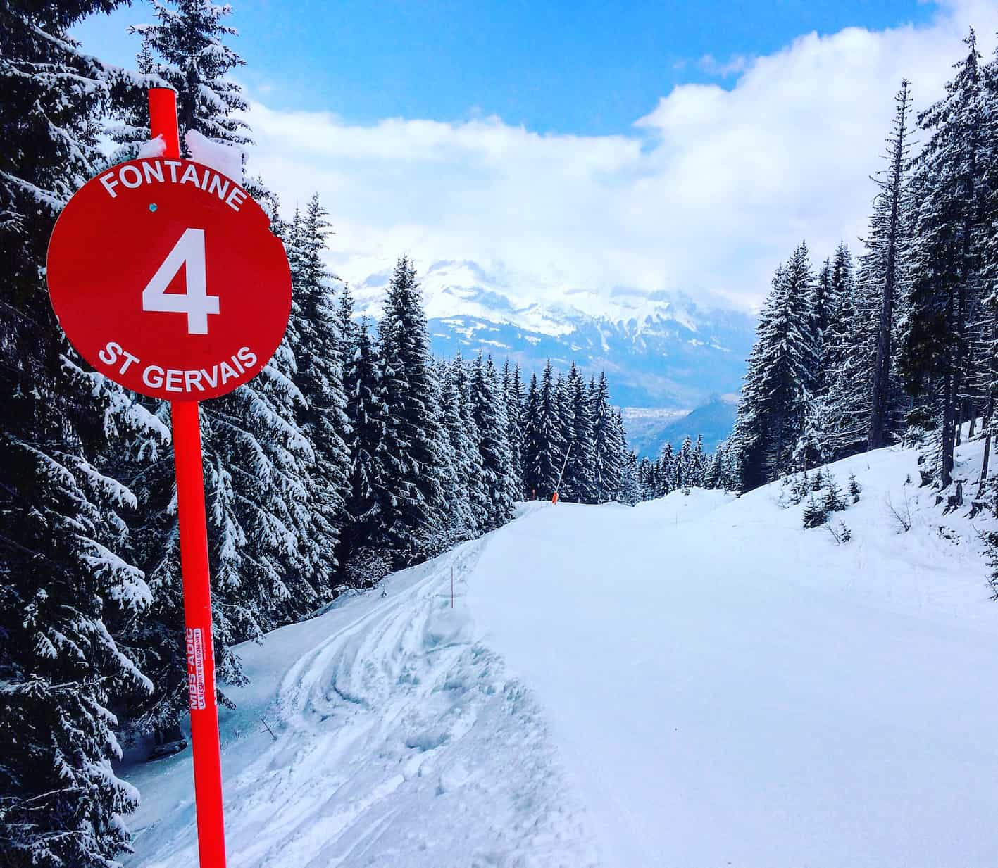 red piste fontaines les houches