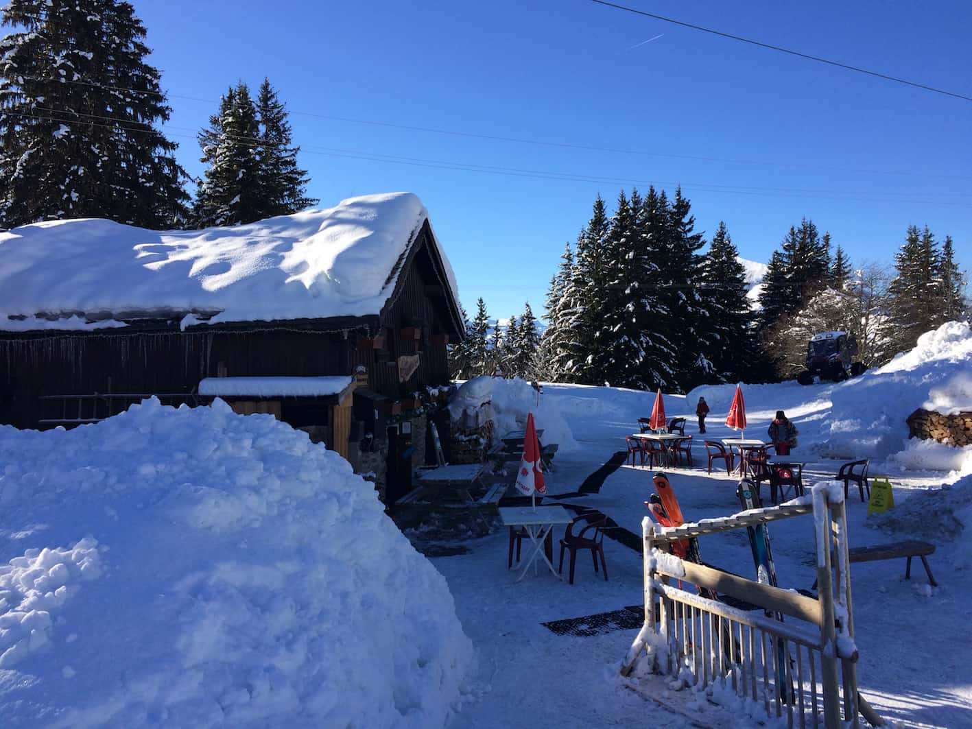 mountain restaurant les houches