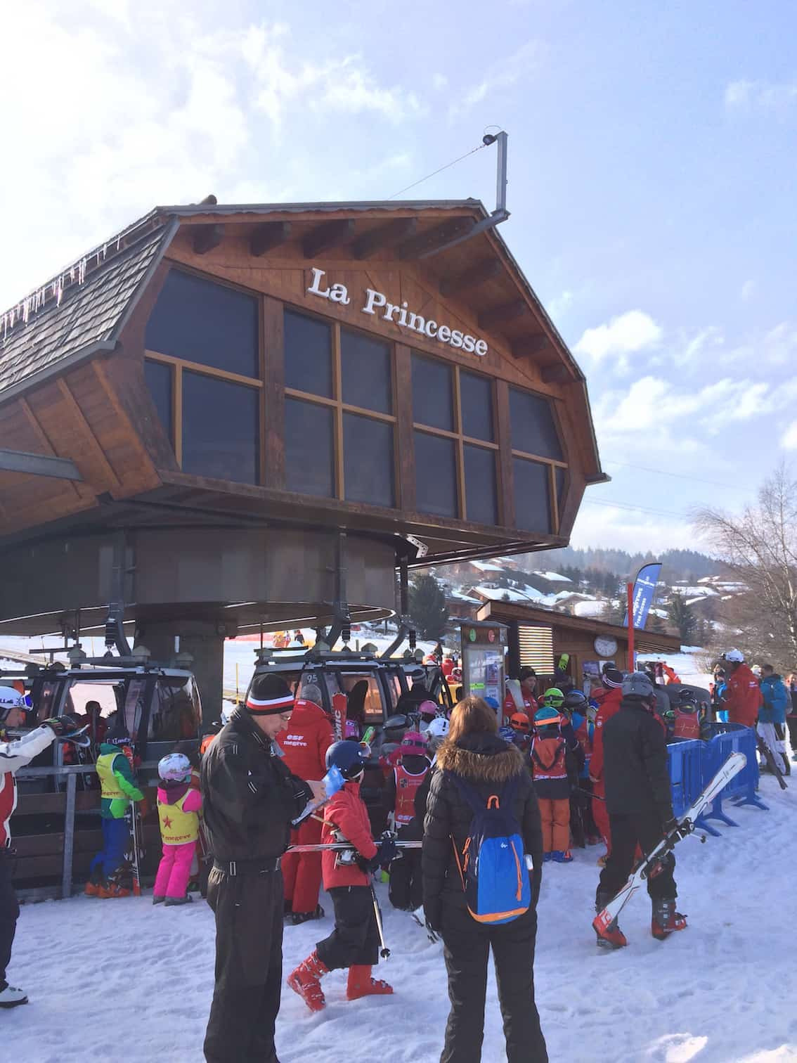 la princesse cable car takes you to the start point of the luge run