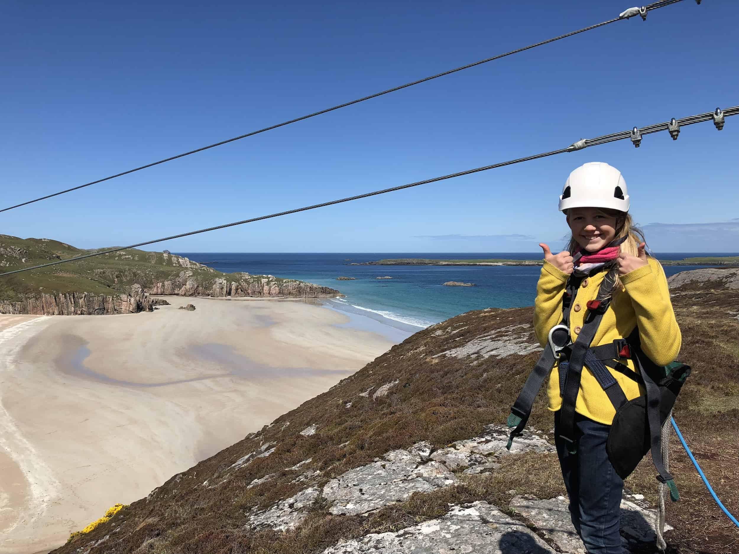 Zip Line Scotland - Ceannabeinne Beach - a must do on your NC500 ...