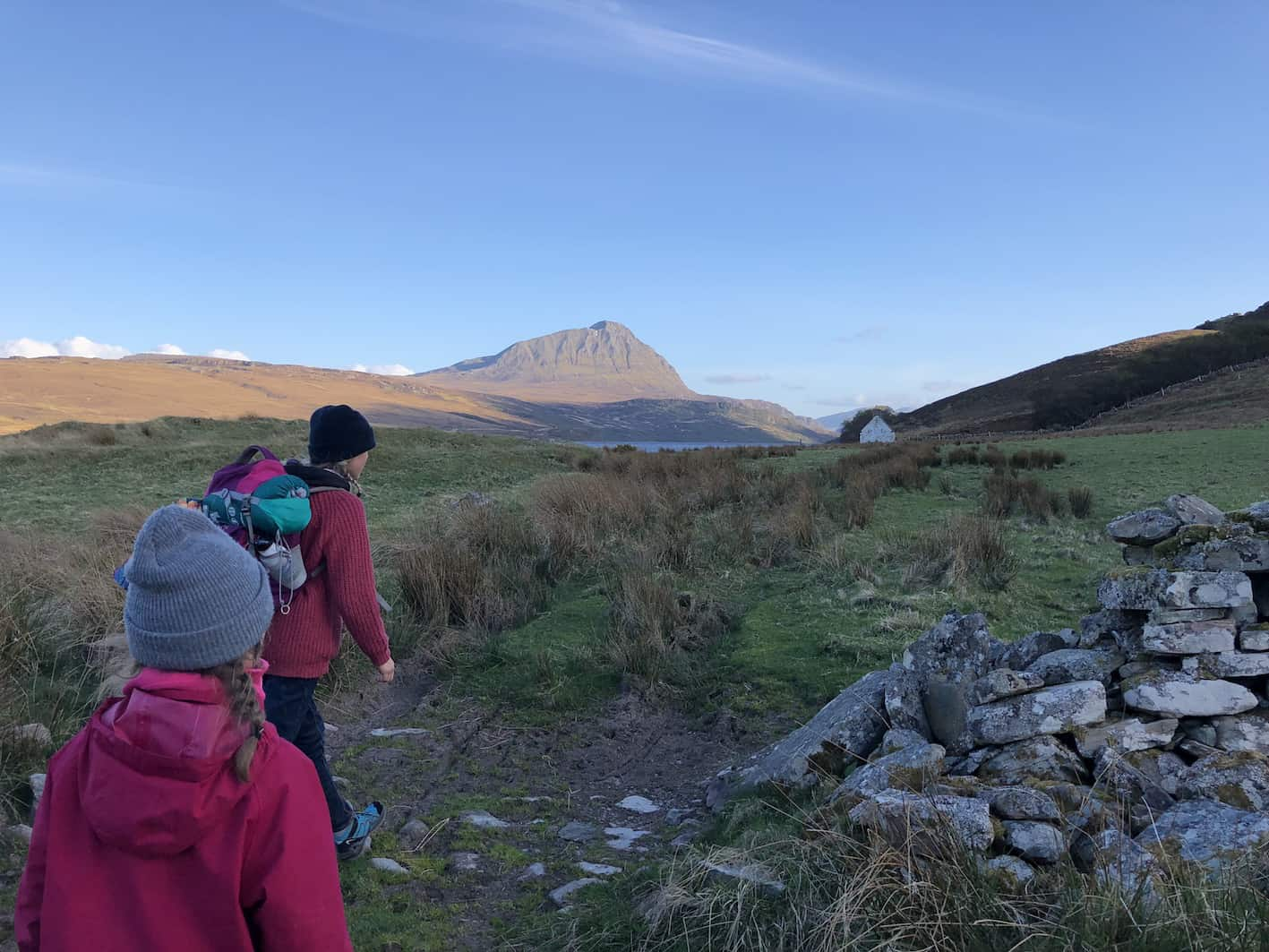 hiking out to a bothy