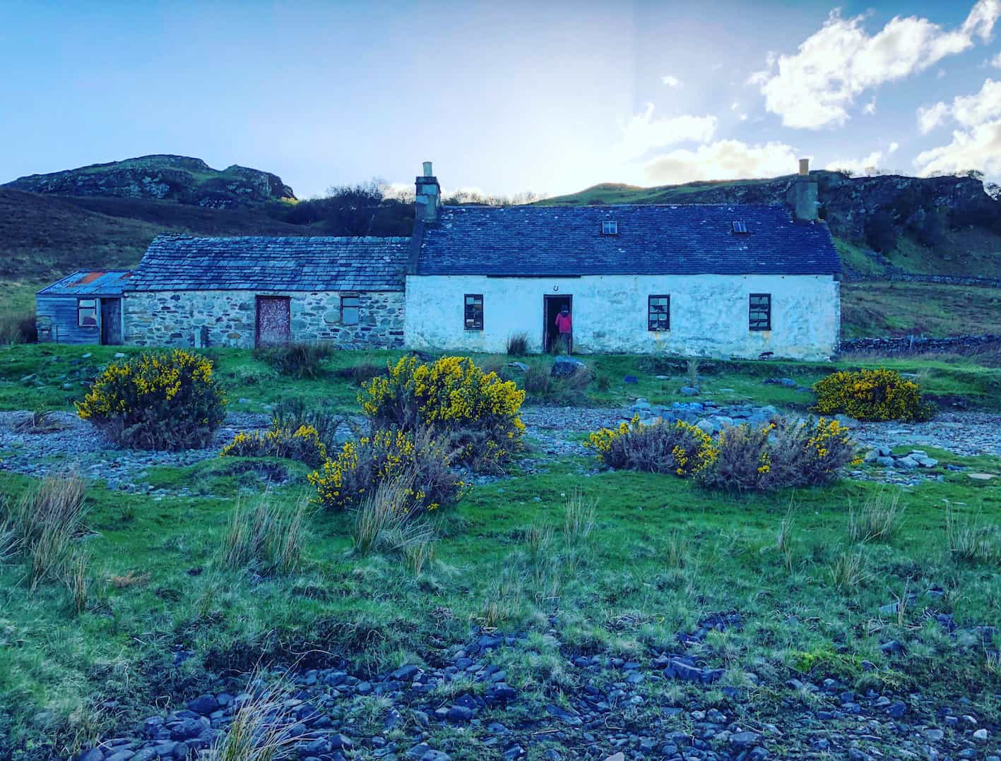 highland bothy in the wilderness