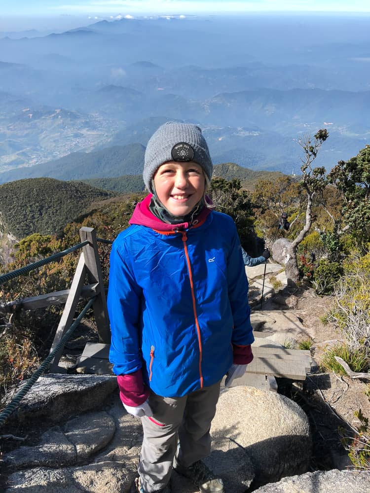 climbing mt Kinabalu with kids