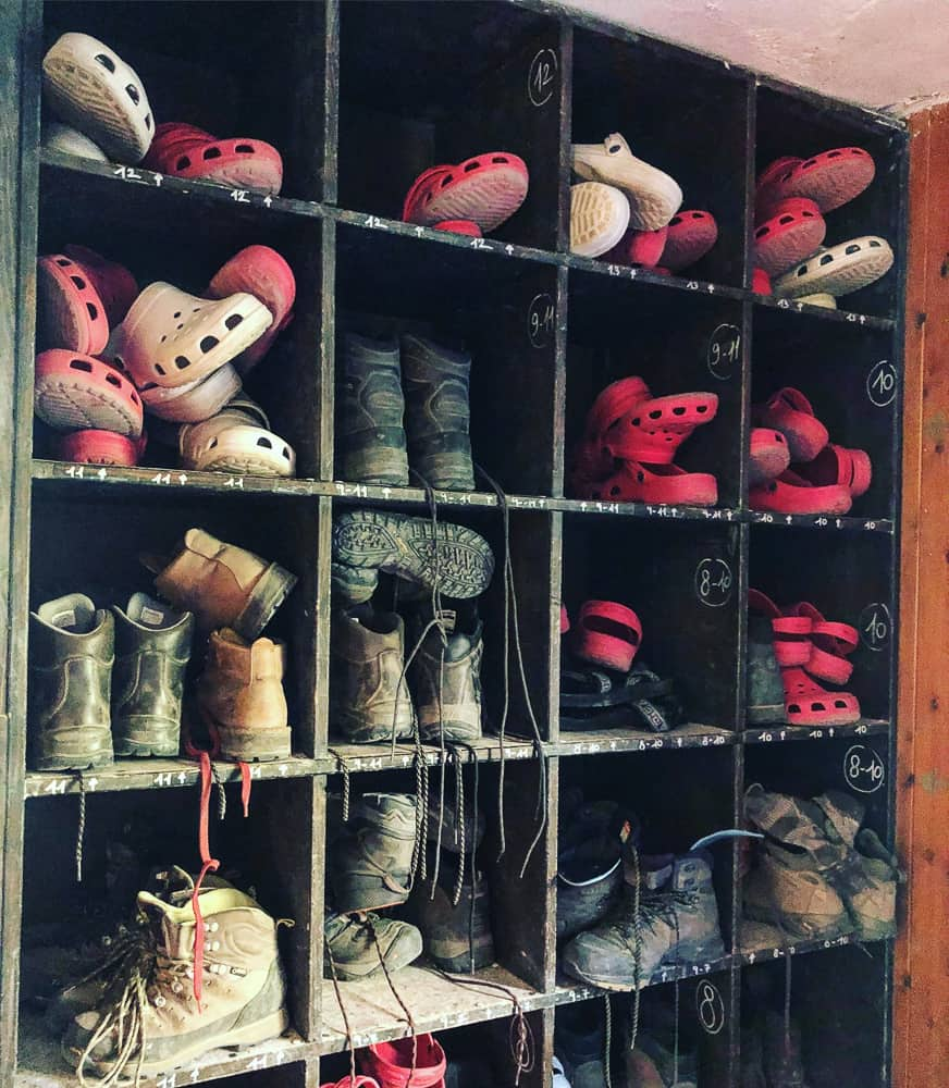 boot store mountain hut