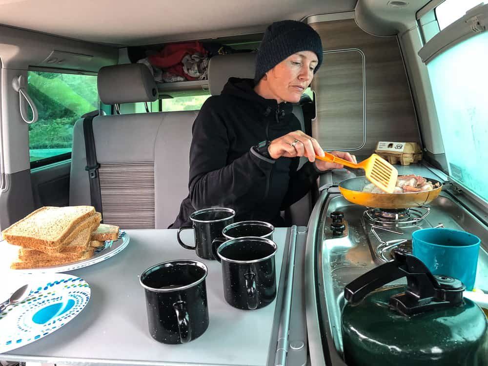 VW California cooking space