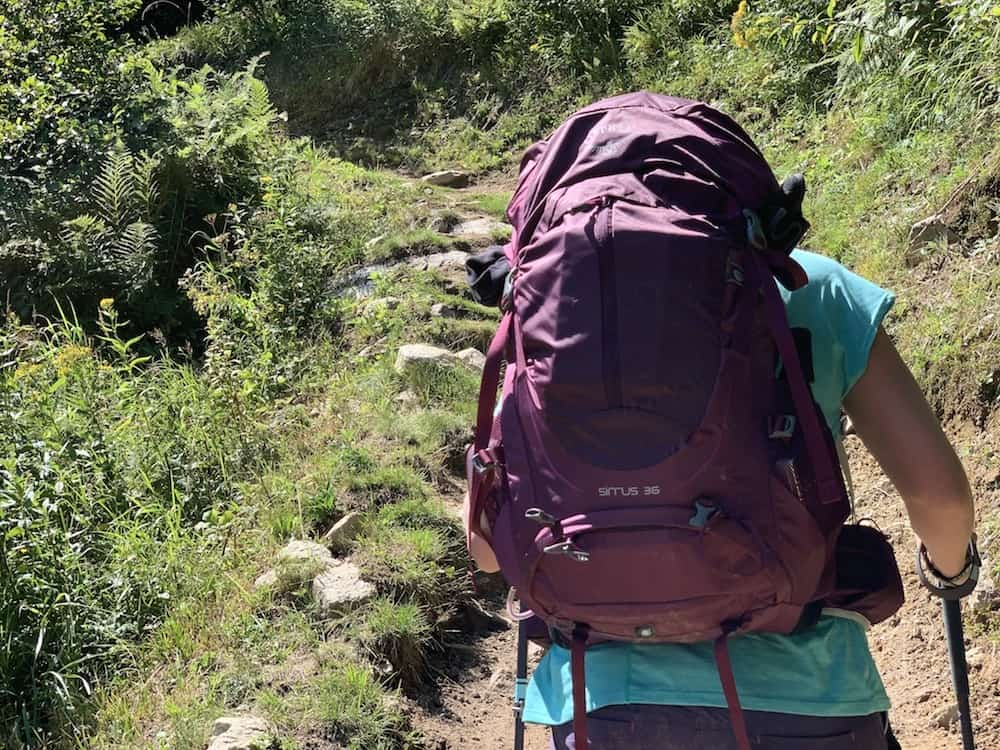 backpack for hiking the tour du mont blanc