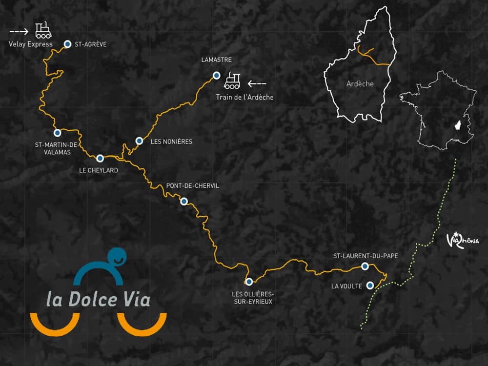 dolce via cycle map