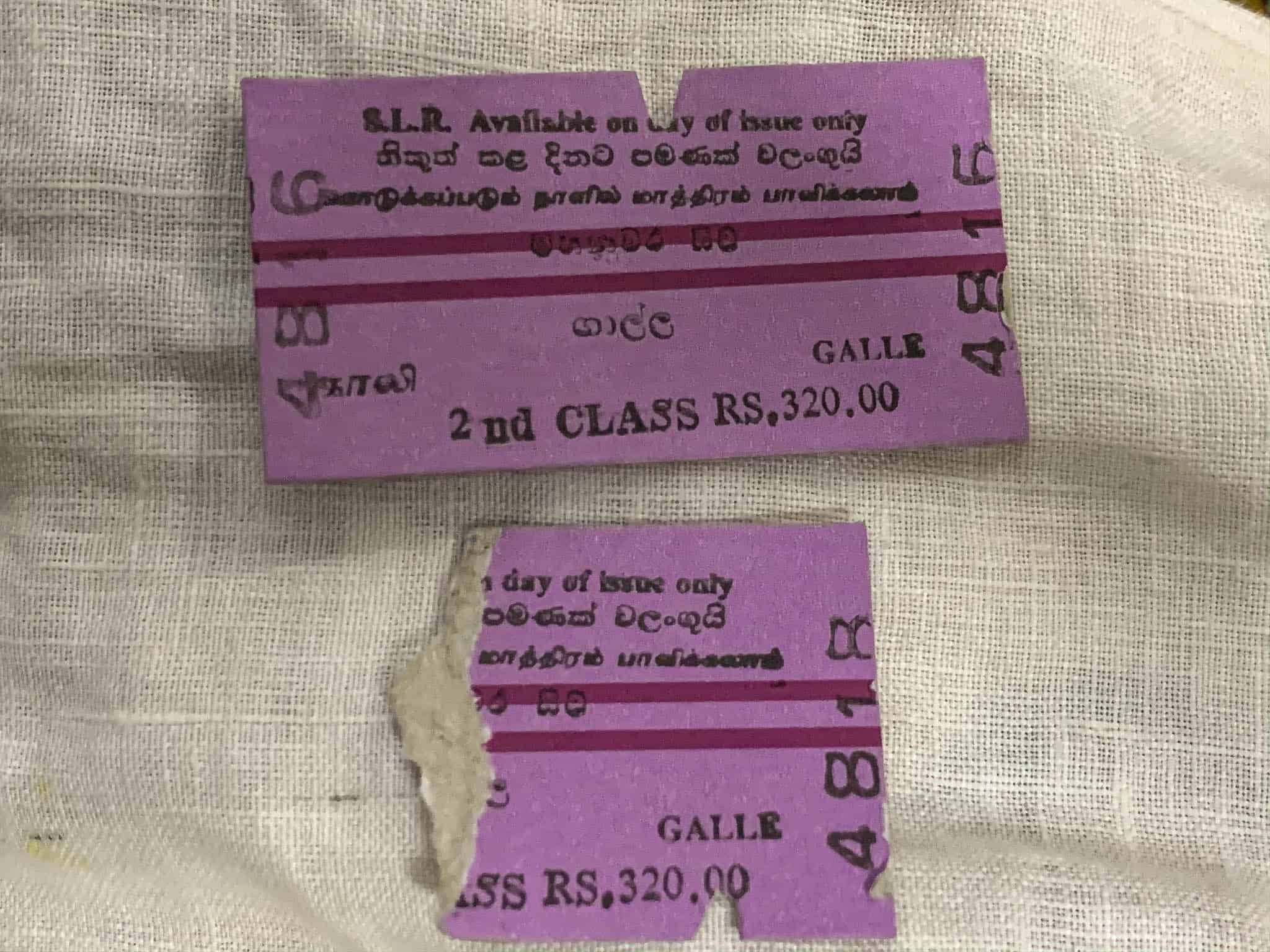 train tickets in Sri Lanka